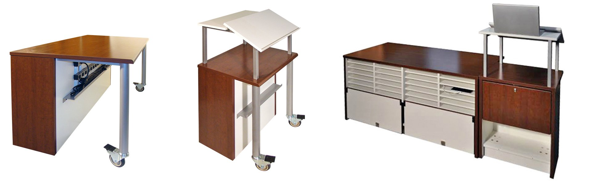Evolutions Charging Desk and Lectern