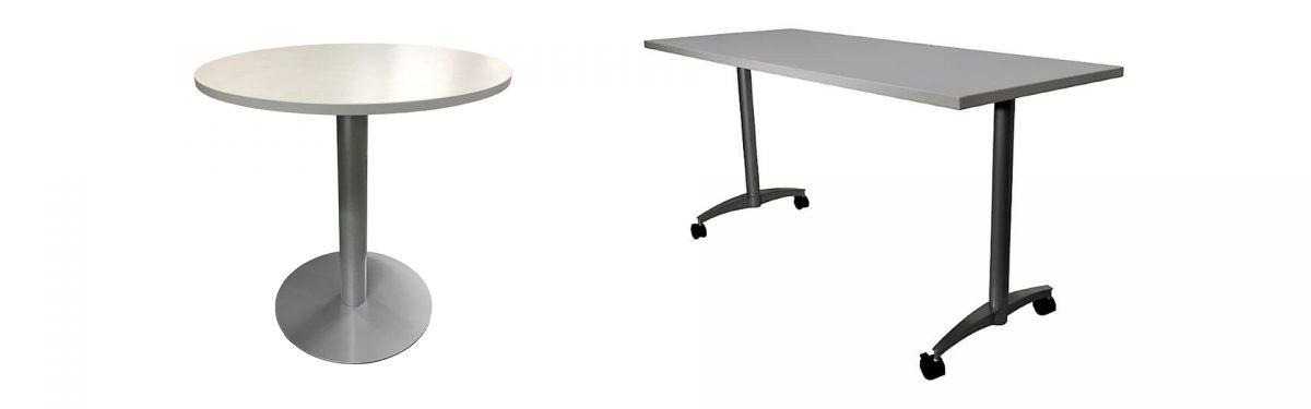 CFC Educational Pedestal and T-Leg Base Tables
