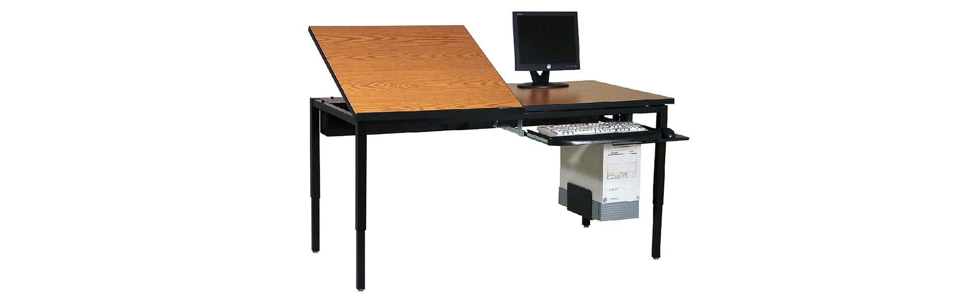 Drafting Table with Computer Accessories